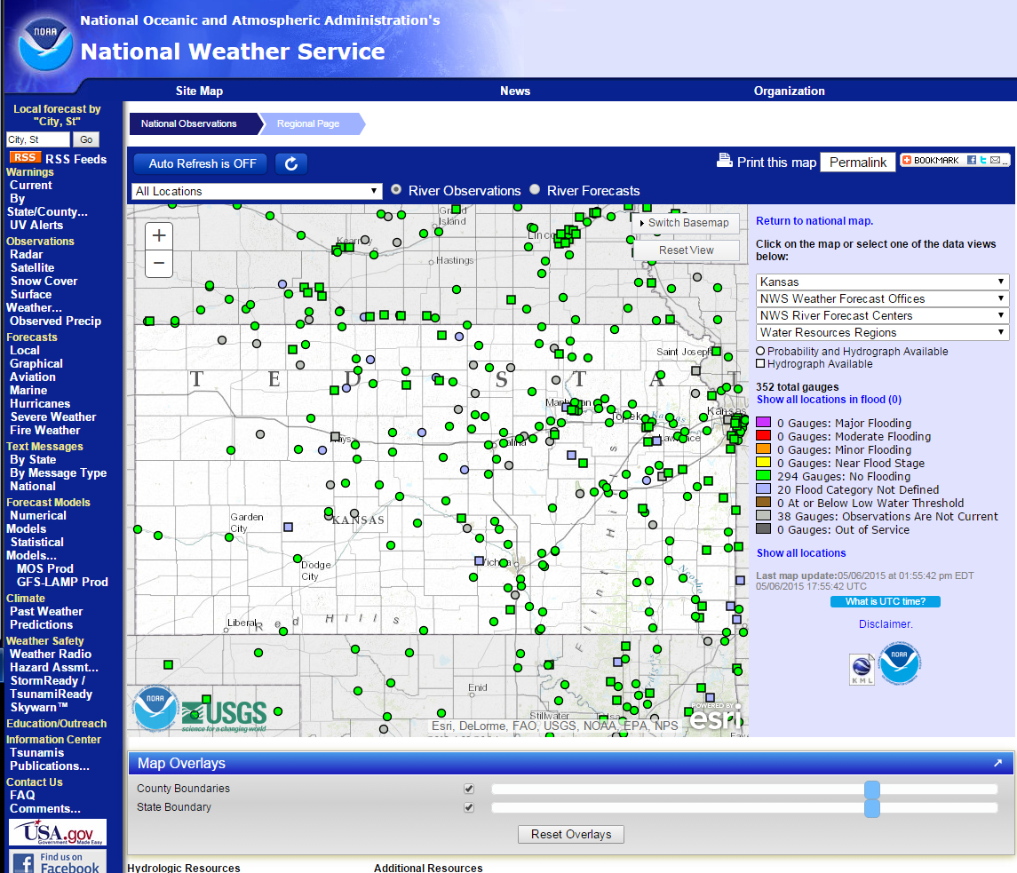 National Weather Service Advanced Hydo Prediction Service