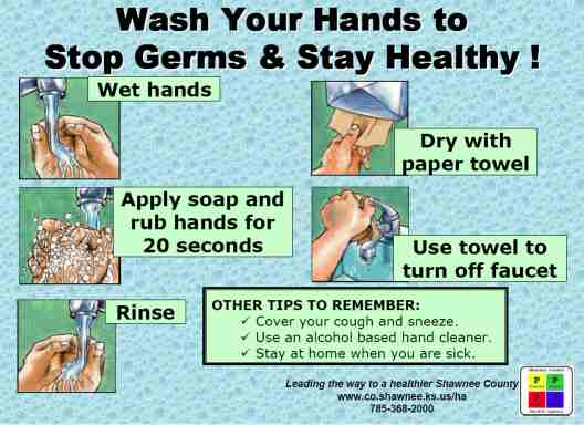 Wash your hands to stop germs and stay healthy